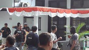 Suasana saat penggeledahan di kantor BPMP Subang