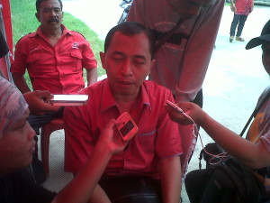 Ketua Panitia yang merupakan Anggota Komisi IV DPRD Kab. Bekasi, Nyumarno.