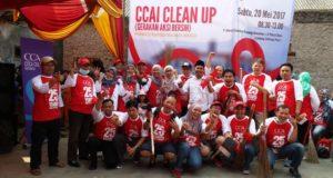 Rayakan 25 Tahun, CCAI Bersih-bersih Di 7 Kota