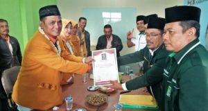 Ketua DPC Hanura Kab Cirebon Resmi Daftar Bacawabup PKB