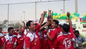 EUFORIA Juara Damam Cup yang diikuti para TKI di Arab Saudi, Jumat (29/4).