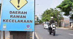 Sering Terjadi Kecelakaan, Dishub Pasang Rambu Rawan Kecelakaan