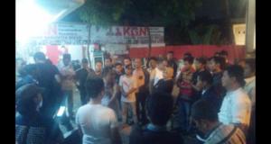 Kader Ngamuk, Kantor DPC Partai Gerindra Kabupaten Bekasi Hancur