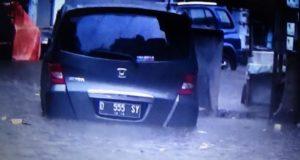 Diguyur Hujan, Jantung Kota Tasik Macet Parah