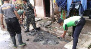 Tujuh Kecamatan Dilanda Banjir, Muspika Kompak Kerja Bhakti