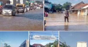 Banjir Terjang Cirebon, Pantura Lumpuh