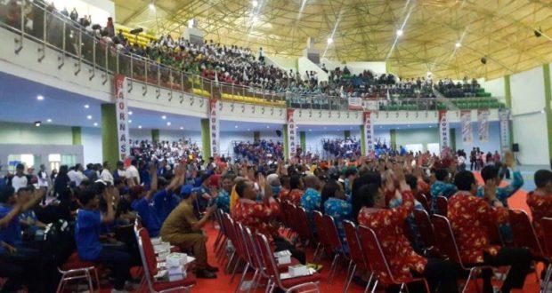 Peringatan Hari Olah Raga Nasional (Haornas) ke-34 Tingkat Jabar Berlangsung Meriah
