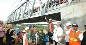 Delapan Bulan Diperbaiki, Jembatan Cipamingkis Resmi Bisa Digunakan Lagi