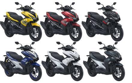 2018, Yamaha Aerox 155 Hadir Dengan Tujuh Warna Pilihan