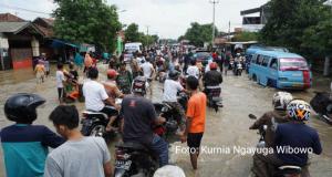 Gunungjati Dilanda Banjir, Pantura Cirebon – Indramayu Macet