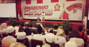Soal Capres, Prabowo Tunggu Respon Rakyat Saja