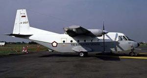 Pesawat Cassa 212 A-2108 Tergelincir di Lanud Husein Sastranegara