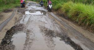 Jalur Vital Di Desa Tanjung Anom Rusak Parah, Begini Curhatan Kuwu