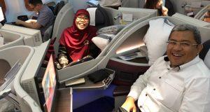 Aher Netty Sahur Pertama di Pesawat
